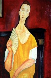 Amedeo Modigliani, Donna con ventaglio