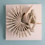Una scultura di carta di kenjio