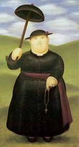 Un prete di Botero