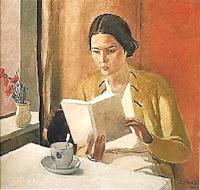 Aleksandr Deyneka, A woman reading, 1934