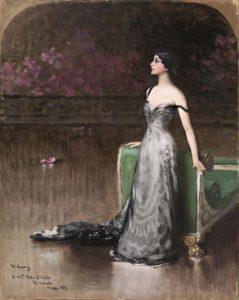 Vittorio Matteo Corcos (Livorno 1859 - Firenze 1933) Ritratto di Lina Cavalieri