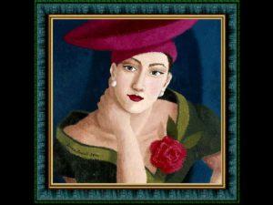 Ritratto di Ophelia Redpath, artista inglese contemporanea