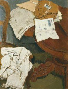 Fausto Pirandello, La lettera (1929). Collezione Iannaccone.
