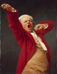 Joseph Ducreux, Self-portrait yawning (Google Art Project)