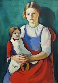 August Macke, Ragazza bionda con bambola