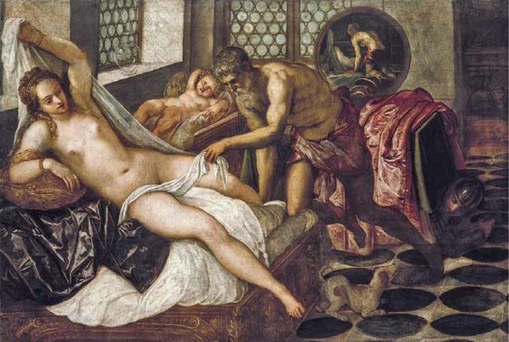 """Jacopo Robusti, detto Tintoretto, """"Venere, Vulcano e Marte"""" (1550-52)"""